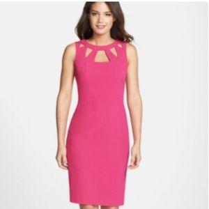 Eliza J Cutout Hot Pink Midi Dress!